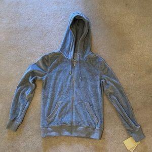 NWT Michael Kors Grey Zippered Sweatshirt